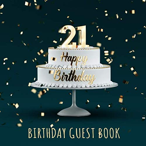 21st Birthday Party Guest Signing and Messaging Book ()
