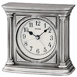 Seiko Clocks QXE051S Table Clock With Alarm
