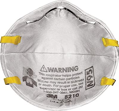 3M Dust Respirators 8210 Plus, N95, 120-Pack
