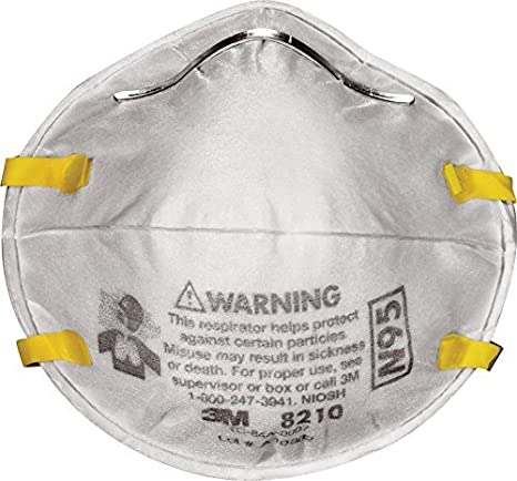 8210 Respirators 3m 120-pack N95 Plus Dust