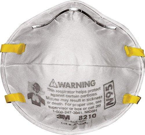 3M Dust Respirators 8210 Plus, N95, 40-Pack