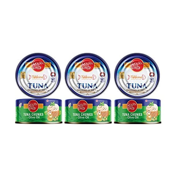 Golden Prize Tuna Chunk in Olive Oil 185Gms Each - Pack of 3 Units