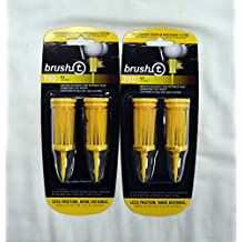 """Brush T Extreme 3 1/8"""" Golf Tees - Yellow - 2 Packs of 2 - (11904)"""