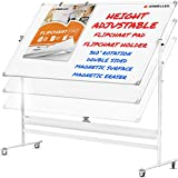 Mobile Whiteboard with Stand - 94x46 Adjustable