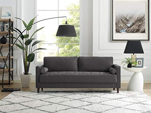 LifeStyle Solutions LK-LGFSP3GU3073 Lexington Sofa in Grey, Heather