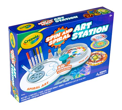 51bdB0uWaOL - Crayola Spin & Spiral Art Station, DIY Crafts for Kids, Gift, Over 20Piece