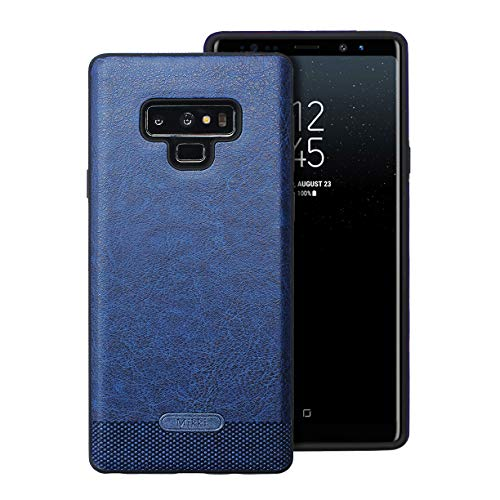 Samsung Galaxy Note 9 Case UCC Luxury PU Leather Grain with Full Body Protective and Anti-Scratch and Non-Slip Design Design for Samsung Galaxy Note 9(Dark Blue)