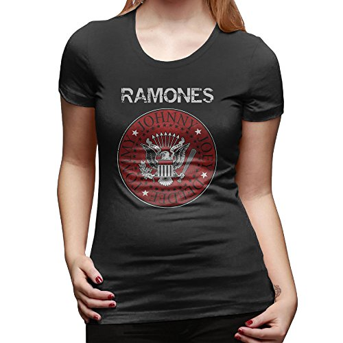 YFF Women's Ramones Short Sleeve Tee Black Size M