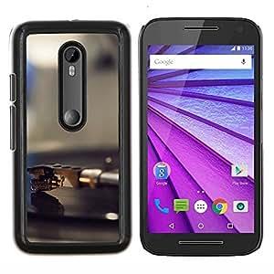 Cubierta protectora del caso de Shell Plástico || Motorola MOTO G3 ( 3nd Generation ) || Vinilo jugador Aguja @XPTECH