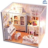Kisoy Romantic and Cute Dollhouse Miniature DIY House Kit Creative Room Perfect DIY Gift for Friends,Lovers and Families(Blossom of Summer Day)