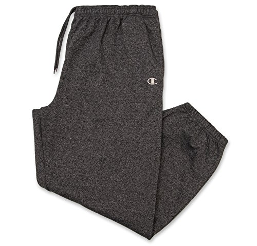 Champion Men's Big-Tall Fleece SweatPants With Elastic Waistband and Drawstring Black MARL 3X Big And Tall Fleece Sweatshirt