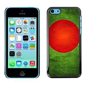 YOYO Slim PC / Aluminium Case Cover Armor Shell Portection //Bangladesh Grunge Flag //Apple Iphone 5C