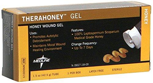 Medline MNK0015H TheraHoney Gel Honey Dressings, 1.5 oz Tube