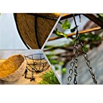Mynse-Set-of-Artificial-Azalea-Flower-Hanging-Flowerpot-with-Chain-Indoor-Decor-Hanging-Basket-with-Artificial-Rhododendron-Red-A-Small-Basket