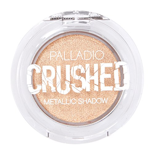 Palladio Crushed Metallic Eyeshadow, Solstice, Pressed Pigments for Highly Reflective Foil Finish, Cream Eyeshadow w/No Creasing, Amazing Color Depth, Apply Glitter Eyeshadow with Eyeshadow Brushes