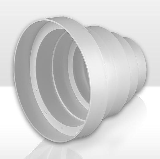 Tubo reductor - diámtro 80 / 100 / 120 / 125 / 150 mm de transición, PVC.: Amazon.es: Hogar