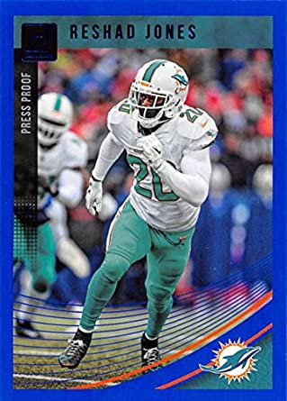0f1e4aa4956e Amazon.com  2018 Donruss Press Proof Blue Football  169 Reshad Jones ...