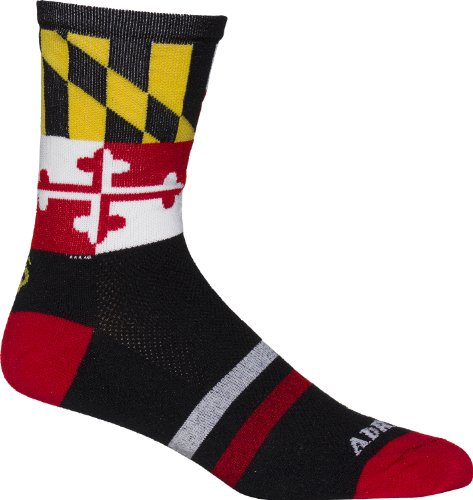 - Adrenaline Promotions NCAA Maryland Terrapins Cycling/Running Socks, Black, Large/X-Large
