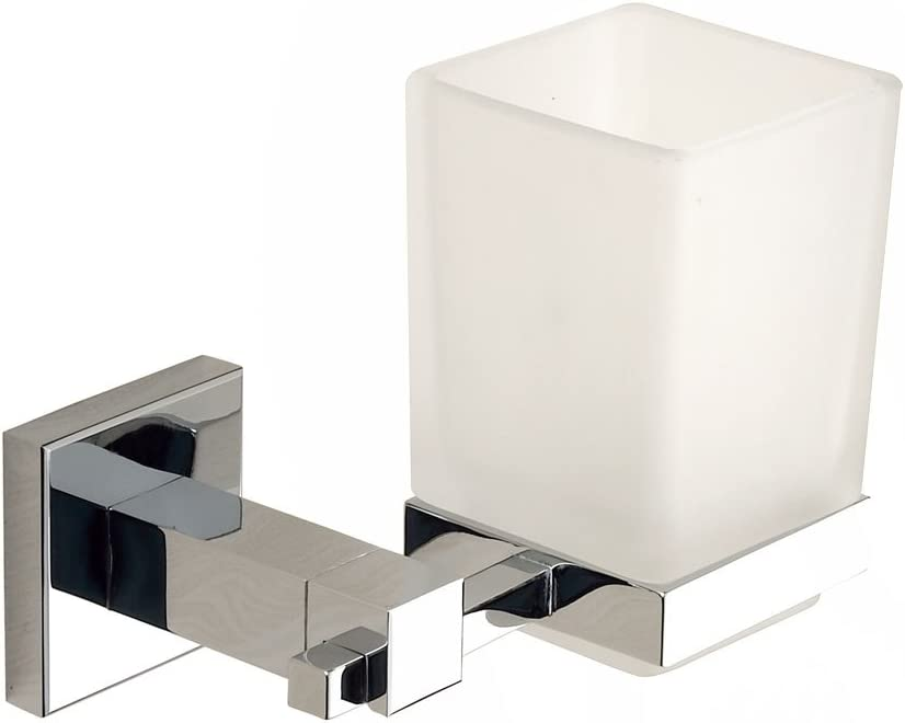 Bathroom Square Tumbler Holder Wall Mounted Toothbrush Holder Chrome Brass 80858 Home Kitchen Amazon Com