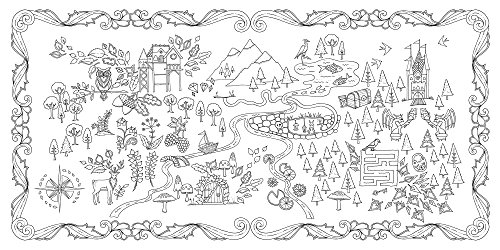 Enchanted Forest: An Inky Quest & Coloring Book - Import ...