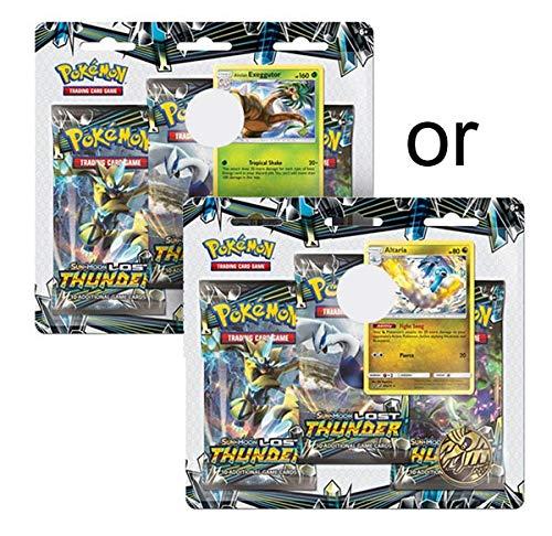Pokemon TCG: Sun & Moon -Lost Thunder Three Booster Blister, Multicolored 167-80457