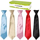 Kid's Elastic Necktie Solid Color 5pc Set 4.