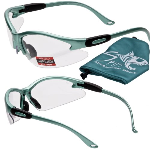 Cougar Safety Glasses - Powder Puff Series- Powder Green Fra