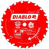 Freud D0620X Diablo 6-Inch 20 Tooth ATB Trim Saw Blade with 1/2-Inch Arbor, (D0620X)
