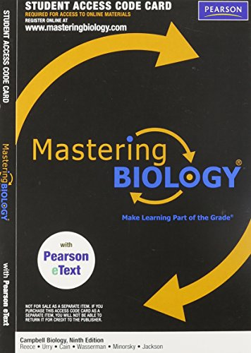 MasteringBiology with Pearson eText Student Access Code...