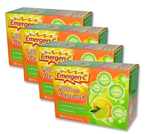 EmergenC, Lemon-Lime, 30 Packets (Pack of 4) by Emergen-C