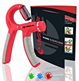Grip Strengthener Forearm Exerciser Hand Strength Grips with Adjustable Resistance 22-88 Lbs for Finger, Wrist and Arm Training