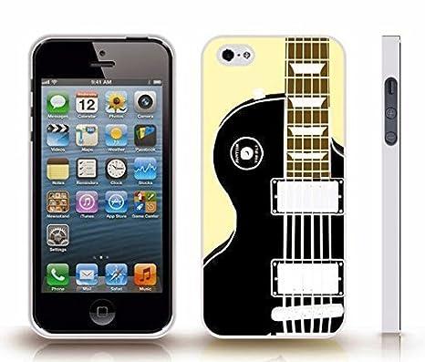 iPhone 4 Funda con guitarra eléctrica Graphic diseño de fondo de color amarillo