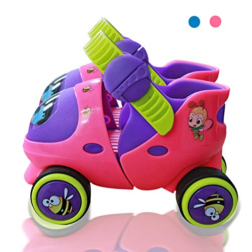Best Price Mpoutik Kid's Children's Adjustable Speed Quad Roller Skates Shoes with Safe Lock Mode fo...