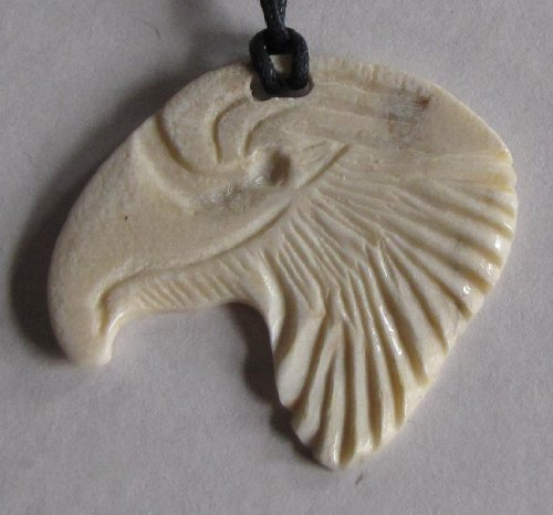 Eagle Head Pendant - Alaskan Made Moose Antler Carved Eagle Head Pendant