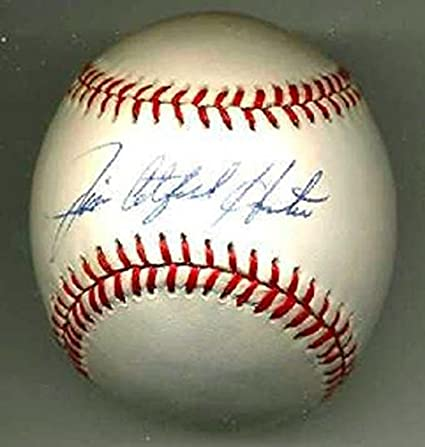 a8d2f80a889 Jim quot Catfish quot  Hunter Signed Official American League Baseball HOF  - PSA DNA Certified