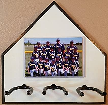 Amazoncom Home Plate Baseball Bat Rack And Picture Frame Ball