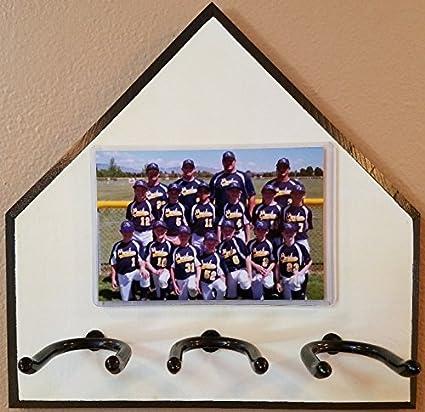 Amazoncom Home Plate Baseball Bat Rack And Picture Frame Ball