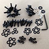XKH GROUP Motorcycle Black Motorcycle Spike Fairing Bolts For 2003 2004 Suzuki Gsxr1000 Gsx-R 1000 new