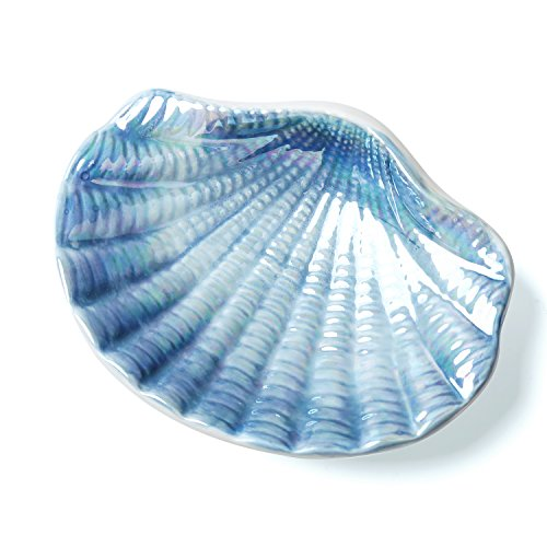 FORLONG Seashell Ceramic Soap Dish Bathroom Accessories Blue