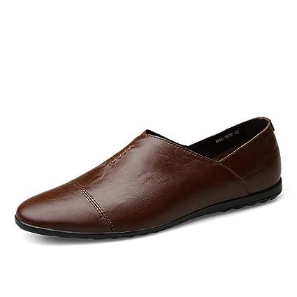Oudan Shu, 2018 Holgazanes Planos para Hombre, Zapatillas para Hombre Mocasines de PU con