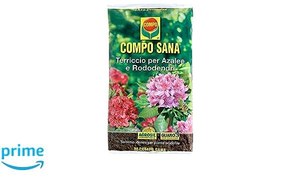 Compo Sana - Sustrato de calidad para azaleas, rododendros y plantas ácidas, saco de 20 litros: Amazon.es: Jardín
