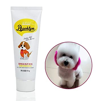 KOBWA Pink Dog Hair Dye, New Pets Hair Dye - Safe Bright ...