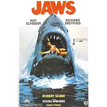 Amazon.com: JAWS shark attack PAINTING POSTER 24X36 SCARY ...