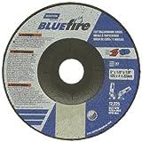 Norton Blue Fire Plus Depressed Center Abrasive Wheel, Type 27, Zirconia Alumina and Aluminum Oxide, 7/8'' Arbor, 5'' Diameter x 1/8'' Thickness  (Pack of 25)