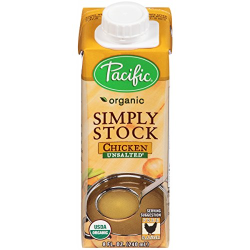 Pacific Foods Organic Simply Stock, Unsalted Chicken Stock, 8-Ounce Cartons, 12-Pack (Pacific Chicken Stock compare prices)