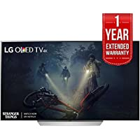 LG OLED55C7P - 55 C7P OLED 4K HDR Smart TV (2017 Model) + Extended 1 Year Warranty Bundle