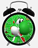Super Mario Yoshi Alarm Desk Clock 3.75'' Home or Office Decor W242 Nice For Gift