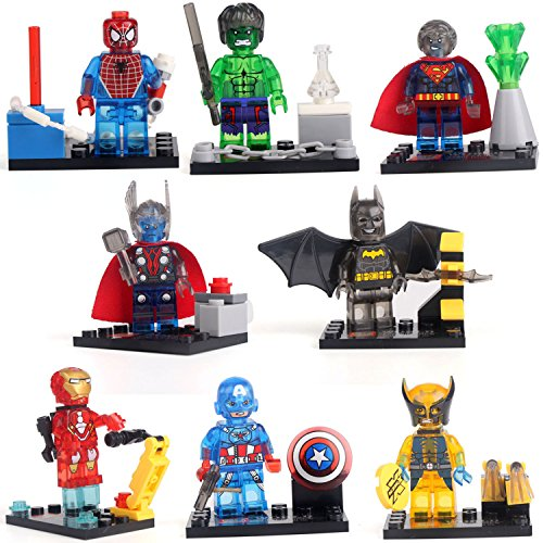 Batman Superman Iron Man Thor Hulk Heroes Clean Minifigures Building Brick lE go (Super Mario Star Road compare prices)