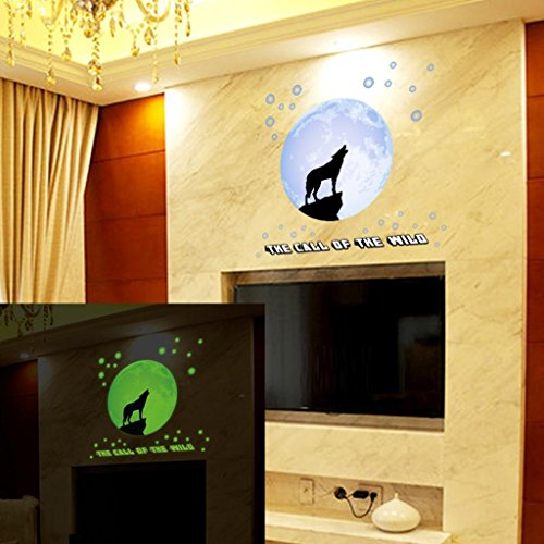 Euone Luminous Wall Sticker Home Decor Glow In The Dark Star Decal Baby Kid Room (D)