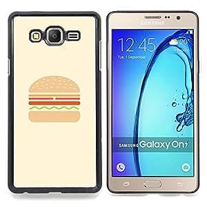 Stuss Case / Funda Carcasa protectora - Hamburguesa minimalista hamburguesa Cooking Chef - Samsung Galaxy On7 O7